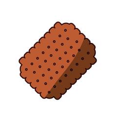 cracker sweet snack vector image vector image