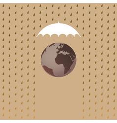 Earth under umbrella vector image