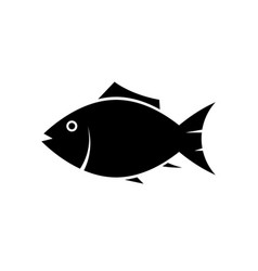 fish icon silhouette vector image