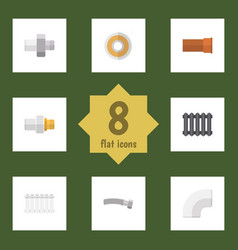 flat icon industry set of roll plastic vector image vector image