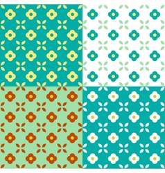 Graphic Flowers Seamless Pattern vector image
