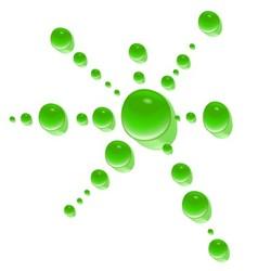 Green water drop vector