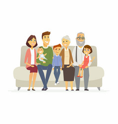 Happy family - cartoon people characters isolated vector