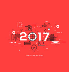 Infographic banner 2017 - year of opportunities vector