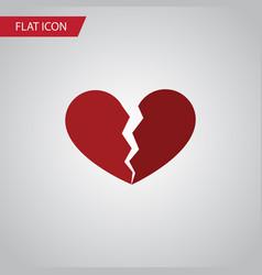 Isolated broken heart flat icon divorce vector