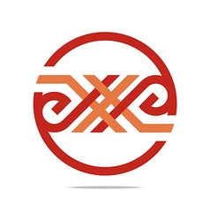 Logo abstract lettering x alphabet icon design vector
