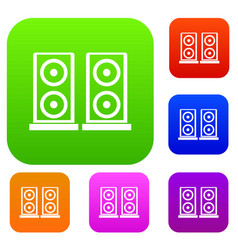 music speakers set collection vector image vector image
