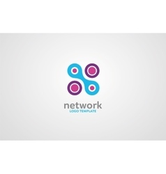 Network logo digital logo company network logo vector