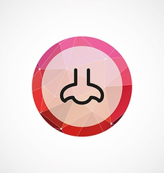 Nose circle pink triangle background icon vector