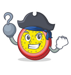 Pirate passion fruit character cartoon vector