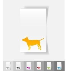 Realistic design element bull terrier vector