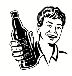 Retro beer guy vector