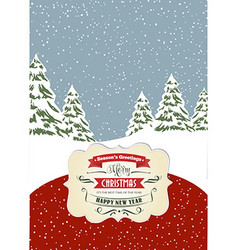 Retro christmas card format 7 inch5 inch vector