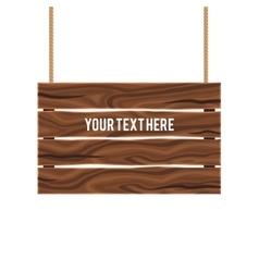 Separate Empty Wood Composite Signboard vector image