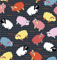sheep seamlesscolor vector image vector image