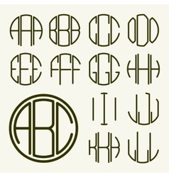 Template letters to create monogram vector
