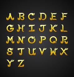 Thai Calligraphic Alphabet design vector image vector image