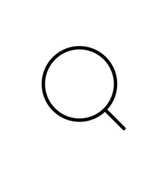 thin line magnifier icon vector image