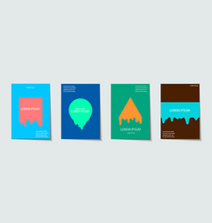 trendy template set with futuristic modern neon vector image vector image