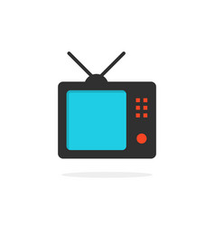 tv icon with shadow vector image