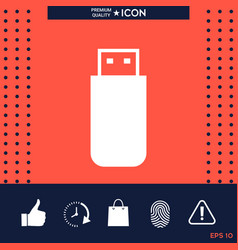 Usb flash memory drive icon vector