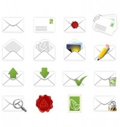 correspondence icons vector image