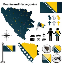 Map of bosnia and herzegovina vector