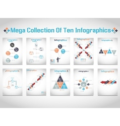 Infographics mega collections of ten modern vector