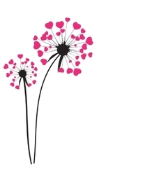 Abstract dandelion background vector