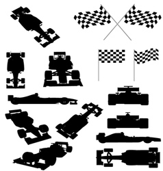 Racing car silhouette vector