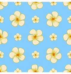 Floral tropical seamless pattern vector