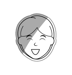 Boy smiling cartoon vector