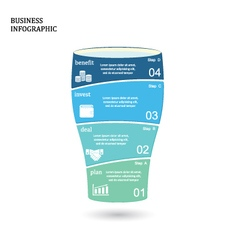 Business startup idea concept with 4 options vector image vector image