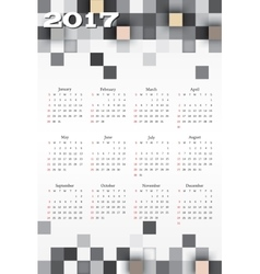 calendar with blue squares vector image
