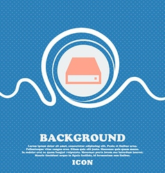 Cd-rom sign icon blue and white abstract vector