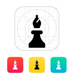 Chess bishop icon vector