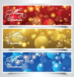 Christmas headers vector image