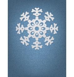 Christmas origami snowflake EPS8 vector image