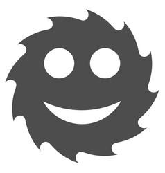 Circular blade happy smiley flat icon vector