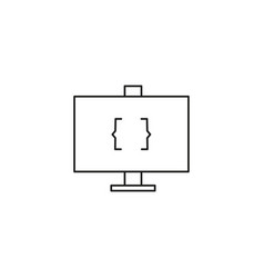 coding monitor icon vector image vector image