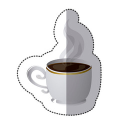 color coffee cup icon vector image