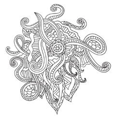 Coloring pages for adults Decorative hand drawn vector image vector image