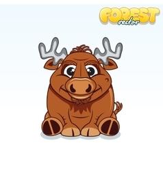 Cute Cartoon Forest Elk Funny Animal vector image