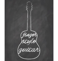 Fingersyle guitar vector