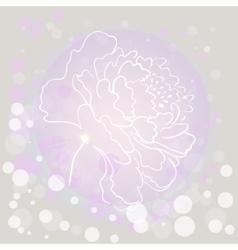 Flower contour vector image