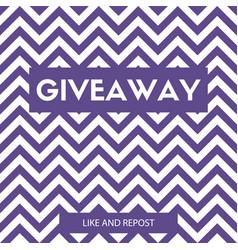 Giveaway card for instagram promotion vector