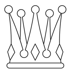 Kingly crown icon outline style vector