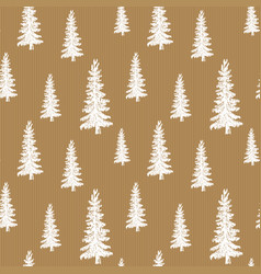 Pine tree hand drawn sketch retro vintage vector