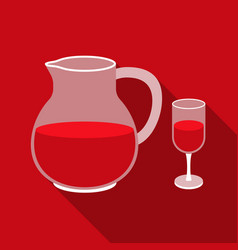 sangria icon in flat style isolated on white vector image