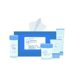 Set of baby care products vector